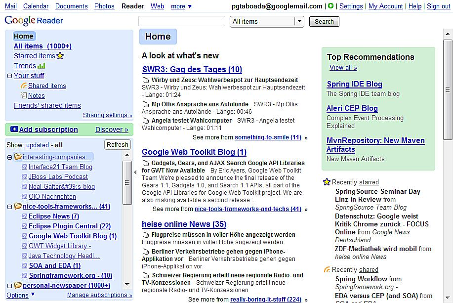 THE DEMO Google News Reader 8