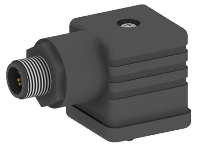 Leistungsabsenkung 24V DC, Bauform A plug with power reduction 24V DC, form A elektrische Option = 07