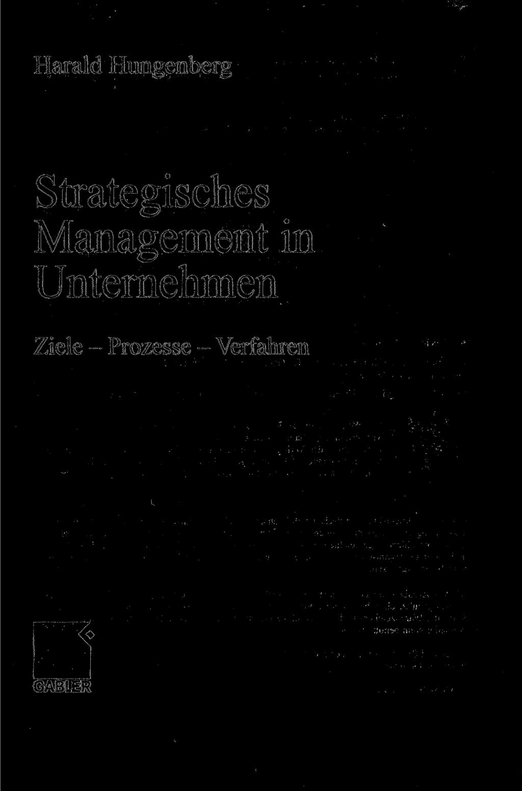 Harald Hungenberg Strategisches Management in
