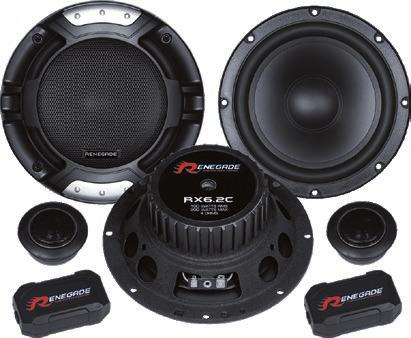 Mounting Hole 143 mm COAXIAL SPEAKERS RX42 30, 10 cm 2-Wege-Koax-System 60 Watt RMS, 120 Watt Max.