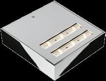 Version with integrated converter for connection to (existing) 230 volt wall outlet. Dimmable via (existing) 0 10 volt DC interface. Luminaire can be rotated through 180 for mounting.