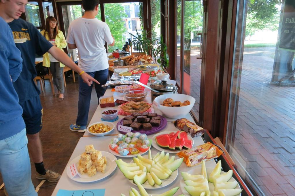 Buffet am Internationalen Abend