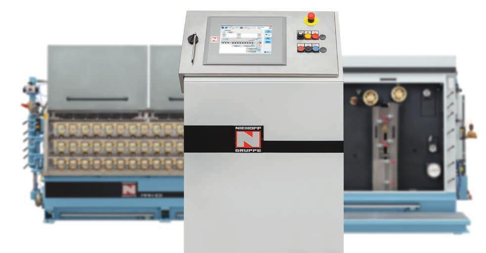 Extremely easy handling NIEHOFF systems are totally user-friendly, and now more than ever thanks to the new NIEHOFF Machine Interface NMI Machines and lines have to be userfriendly. That is a fact.