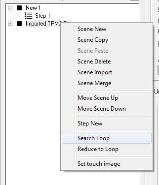 The function is available via right click to the scene name or within the tool bar with.