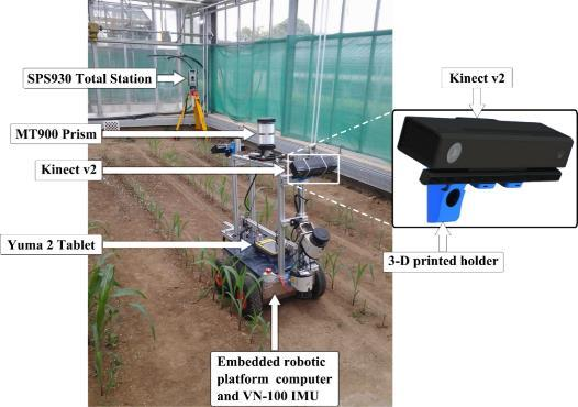 Chapter 3: Part II: Reconstruction of geo-referenced maize plants using a consumer time-of-flight camera in different agricultural environments 48 than the (sub-centimetre-level) robotic total