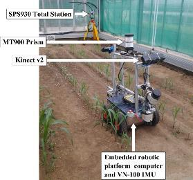 Chapter 5: Part IV: Determination of stem position and height of reconstructed maize plants using a time-of-flight camera 85 The 3-D imaging acquisition system is depicted in Figure 5-1 and the
