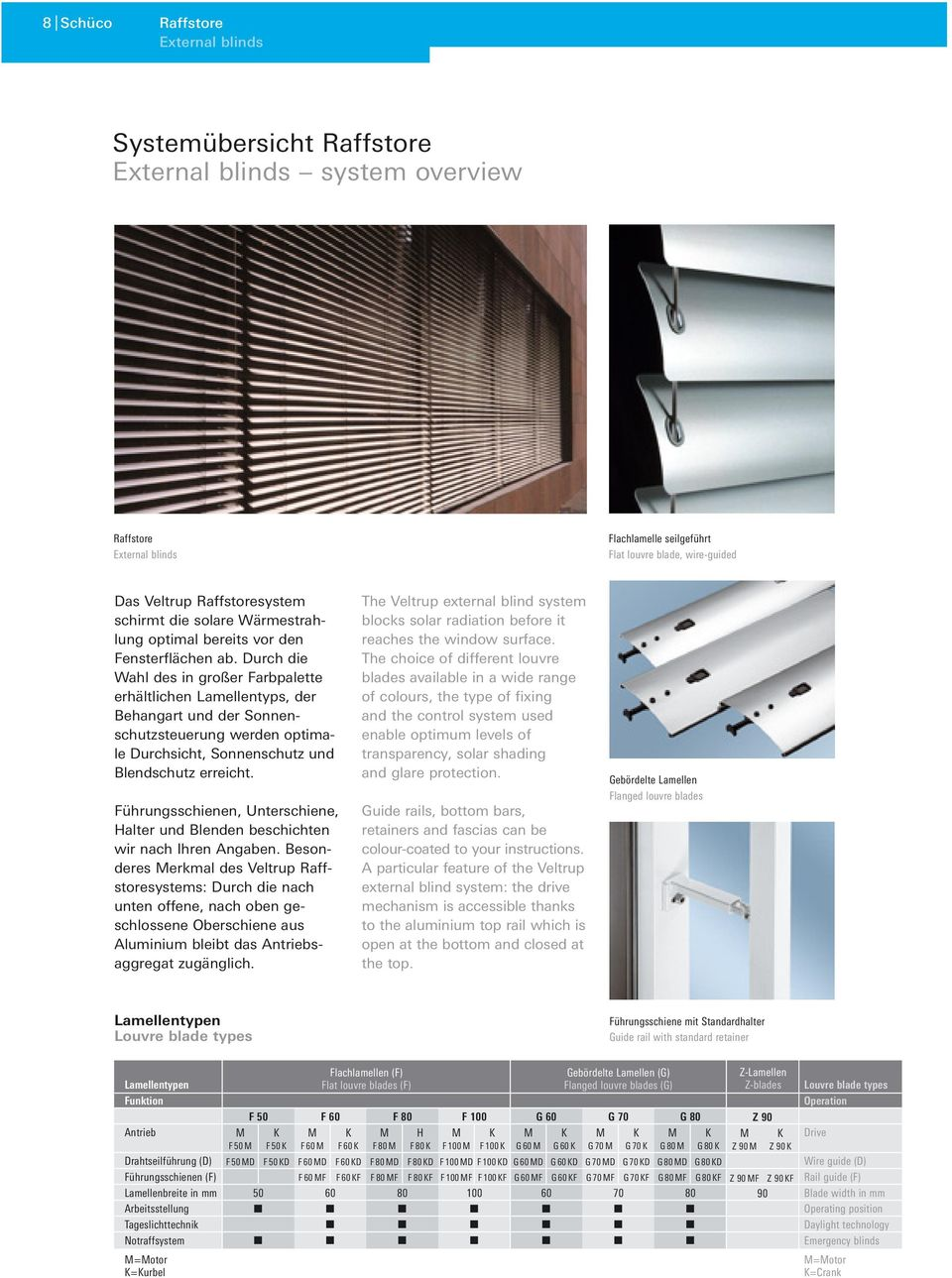 Individuelle Sonnenschutzsysteme Individual solar shading systems - PDF