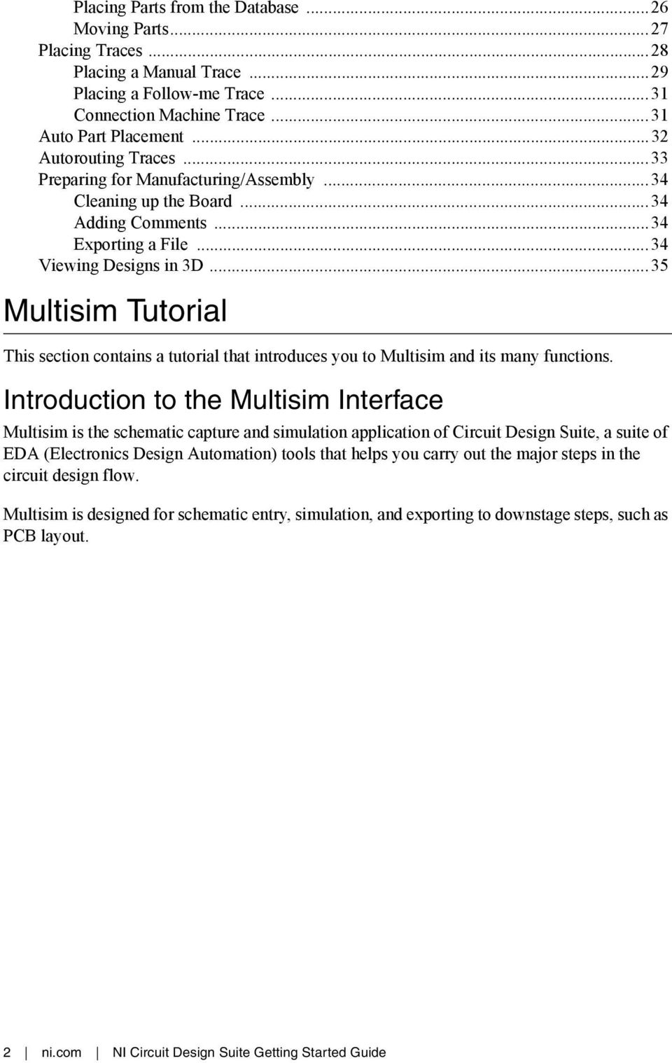 This Section Contains A Tutorial That Introduces You To Multisim And Your Own Like Circuit Design Simulation Application 35