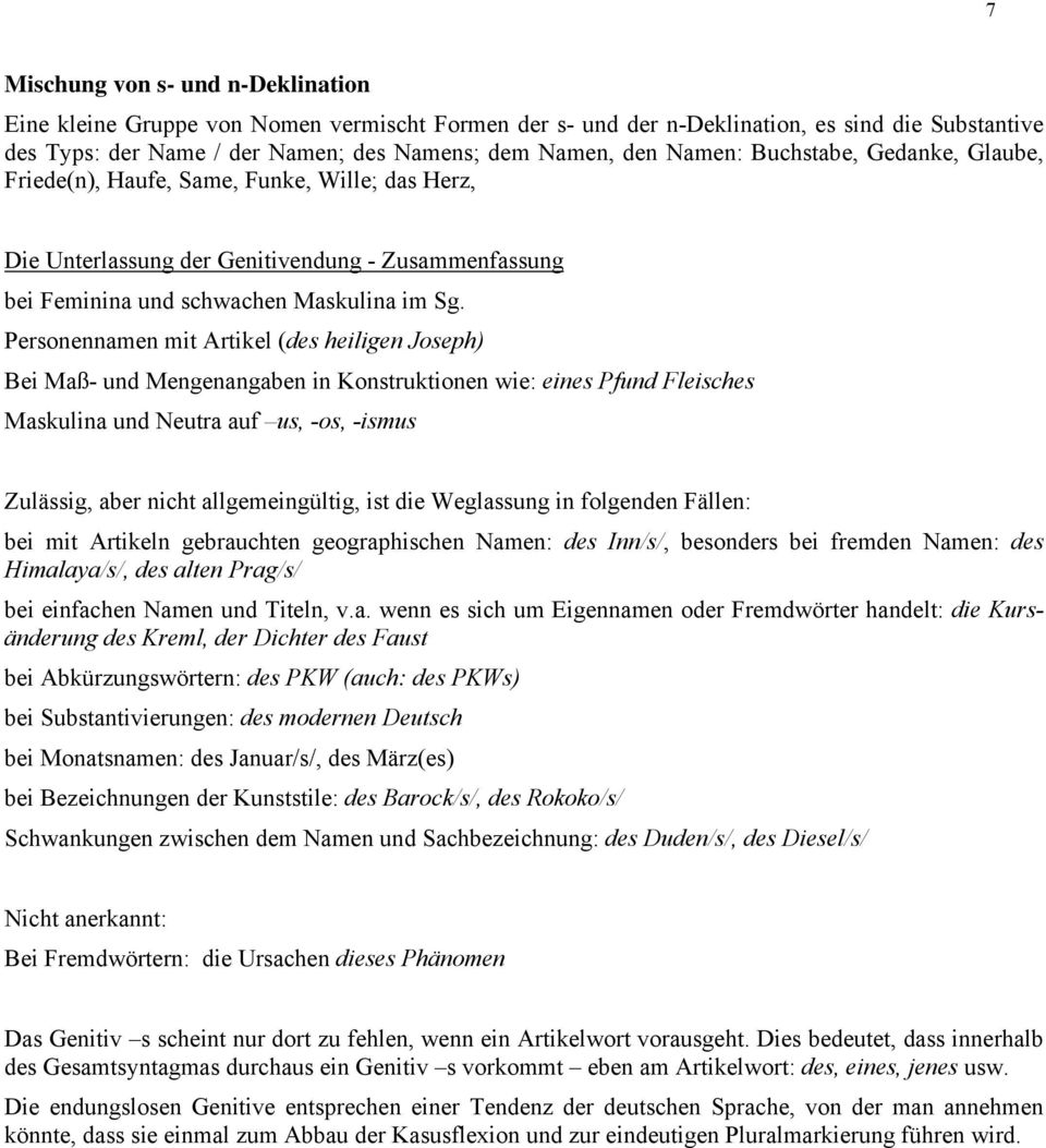 SUBSTANTIV Klassifikation der Substantive - PDF