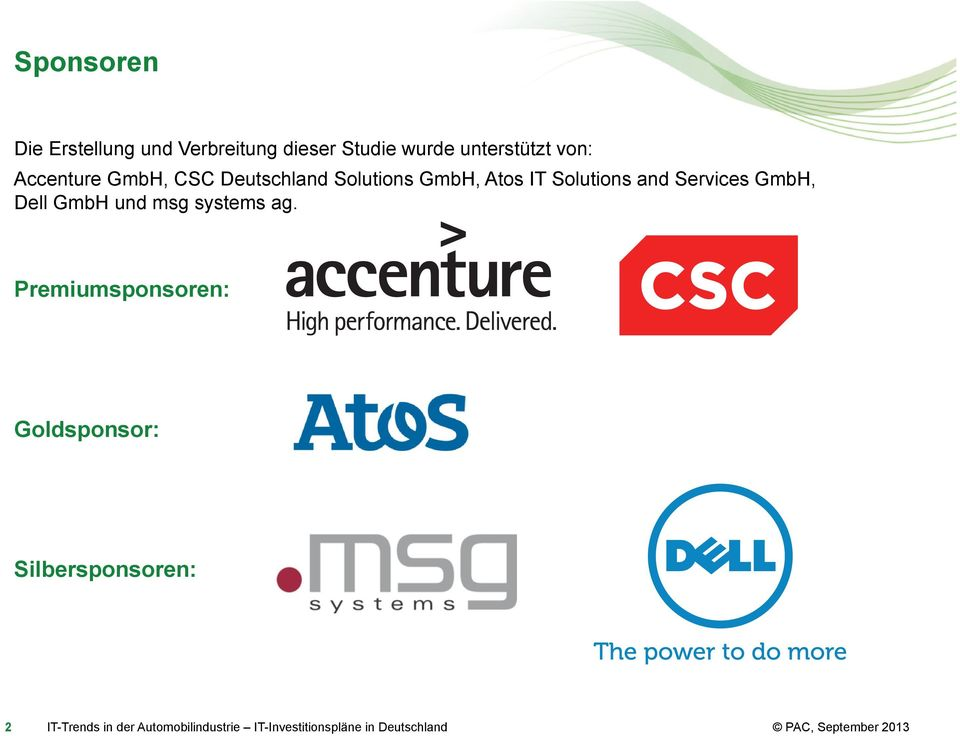 GmbH, Atos IT Solutions and Services GmbH, Dell GmbH und msg