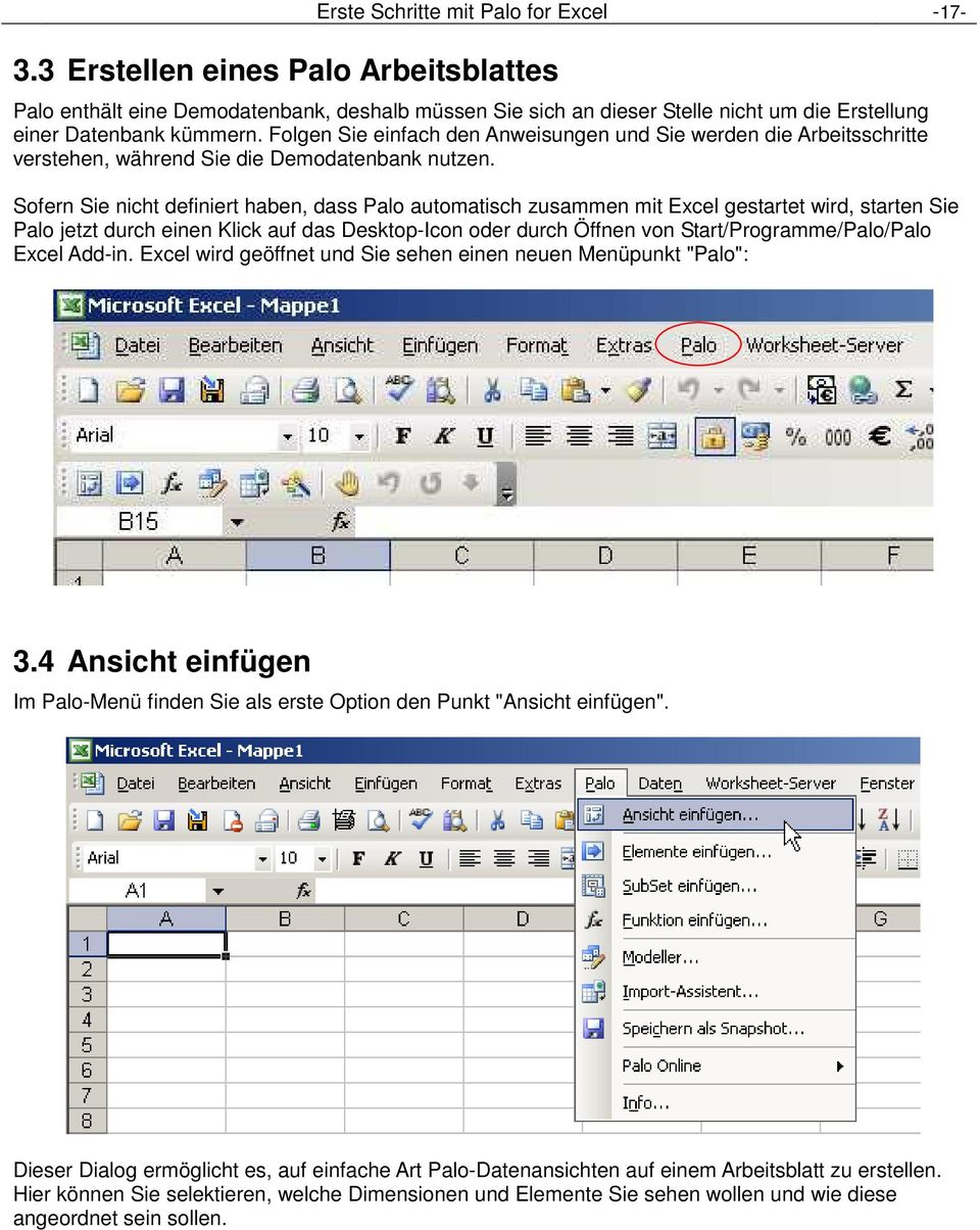 Erste Schritte mit Palo for Excel. Commercial Open Source Business ...