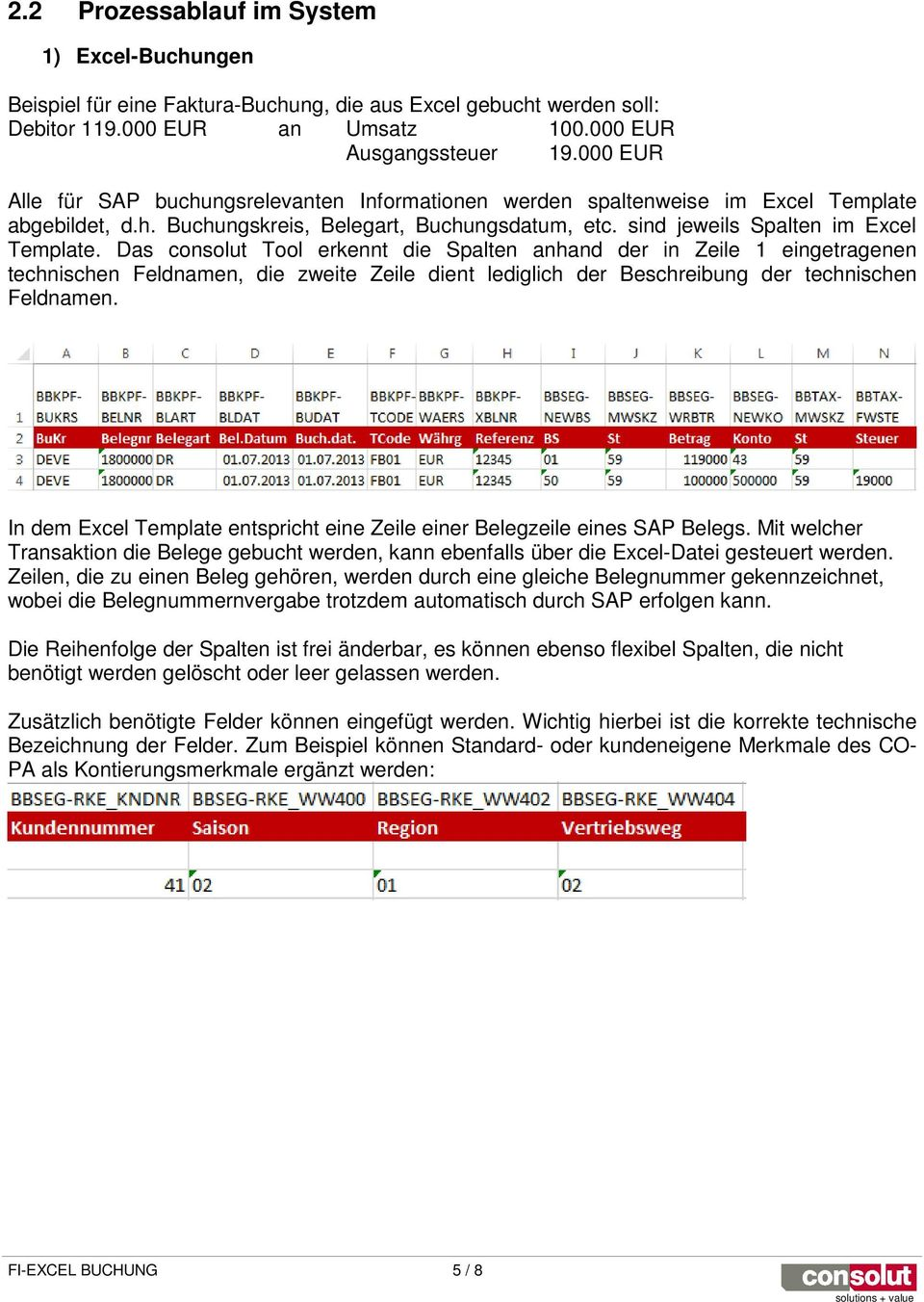 Excel Posting Add On Fi Excel Buchung Solutions Value Pdf