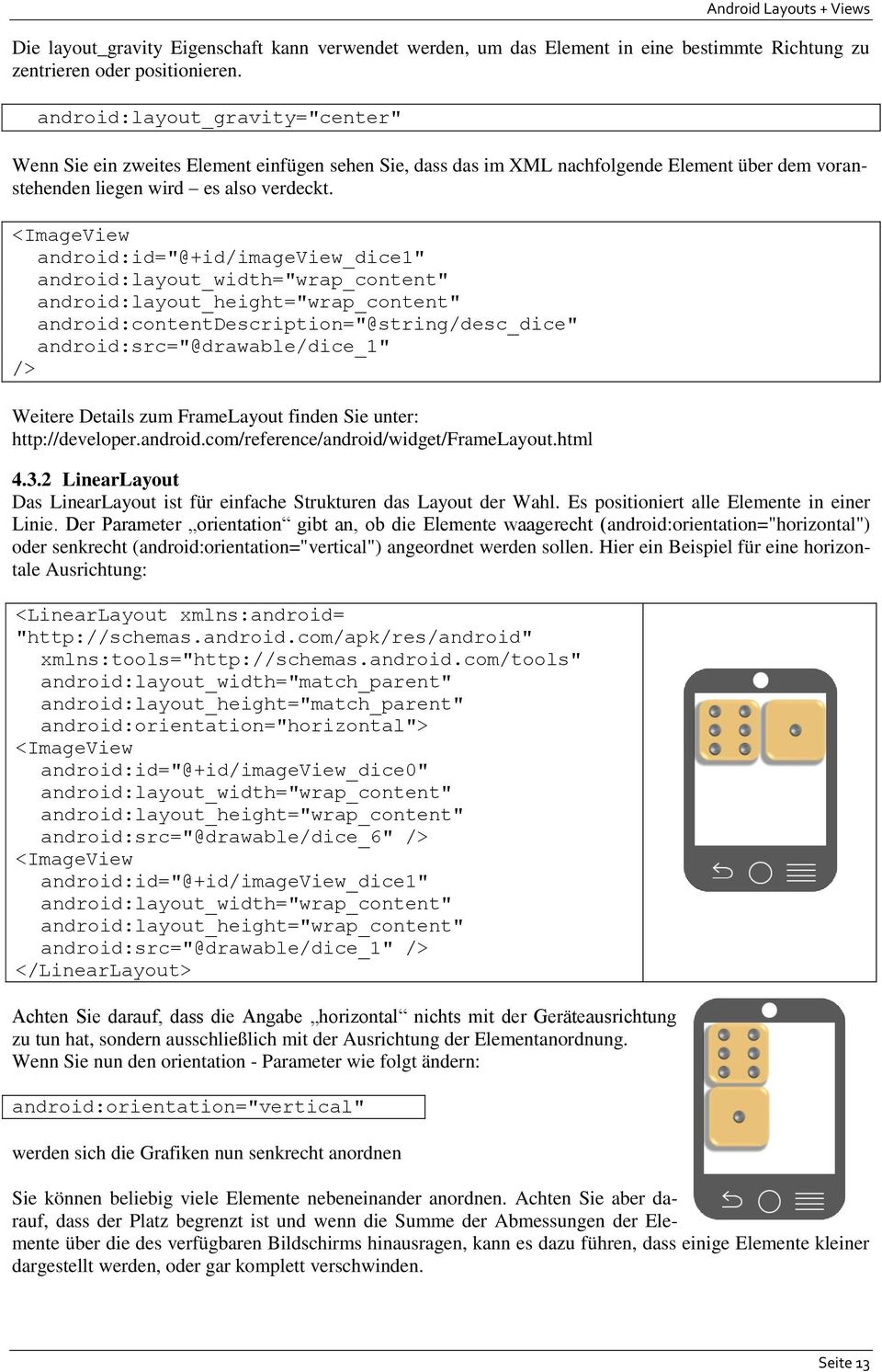 Android Layouts + Views Android Kurs Stufe 1 (Gelbgurt) - PDF