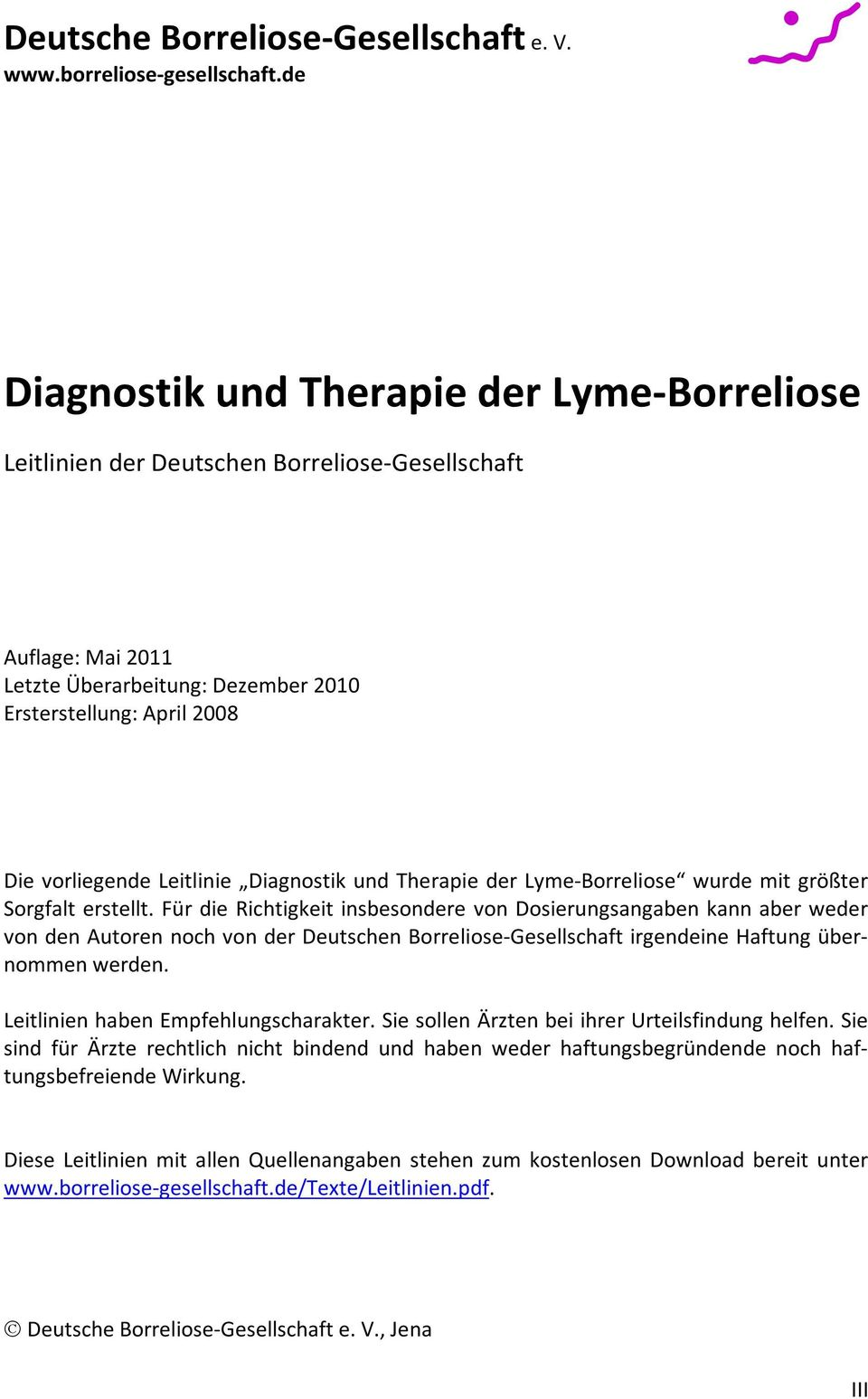 borreliose therapie leitlinie