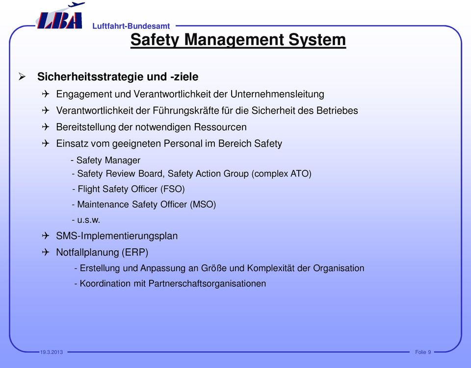 Manager - Safety Review