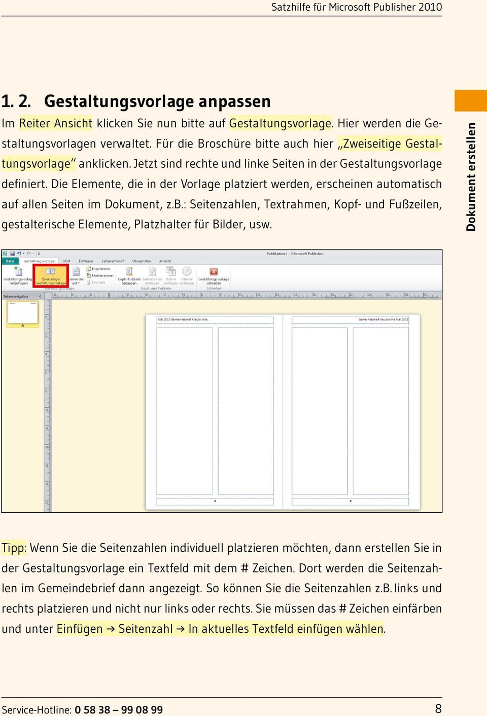 Niedlich microsoft publisher weihnachtsvorlagen for Page break in rtf template