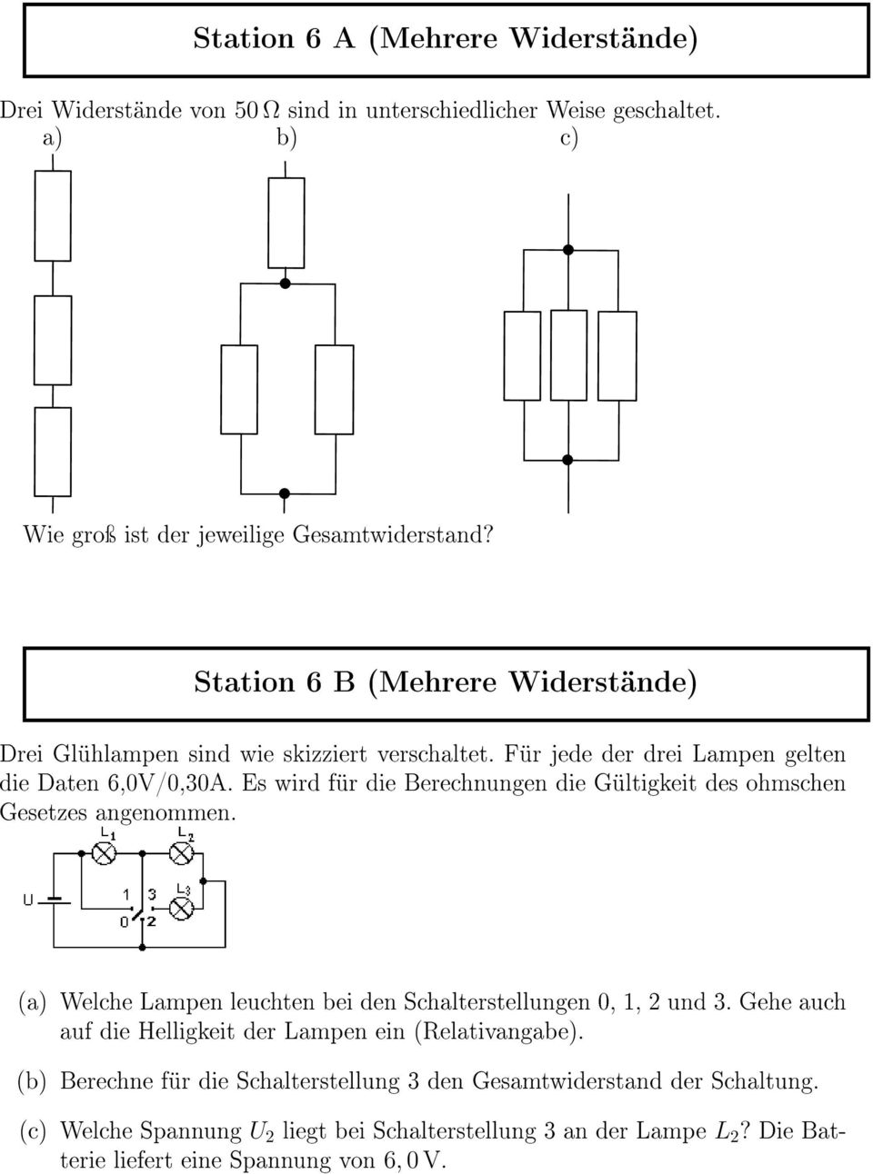 Station 1 A Reihenschaltung Pdf Free Download
