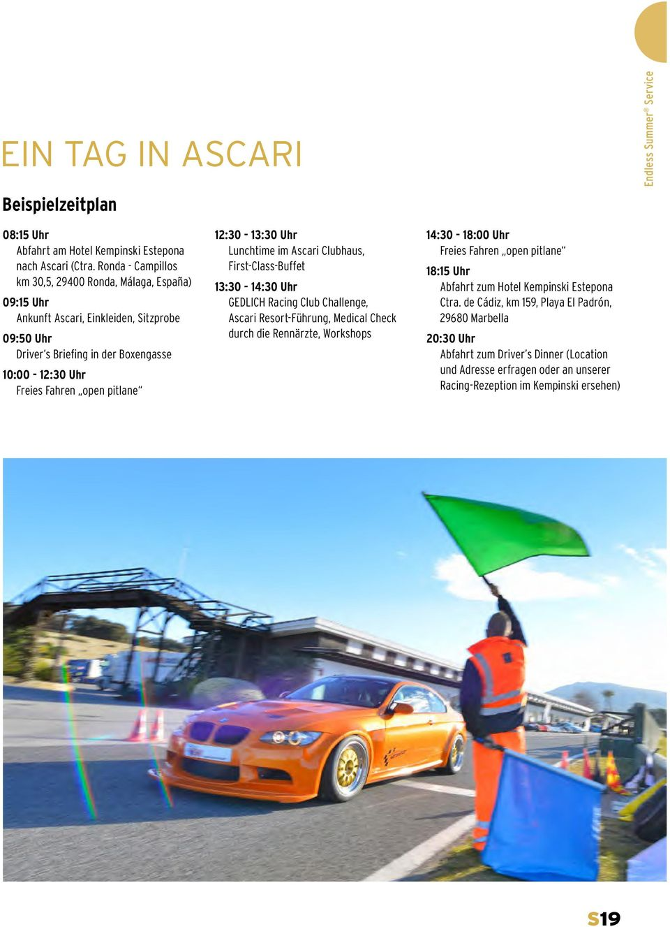1230 1330 Uhr Lunchtime Im Ascari Clubhaus First Class