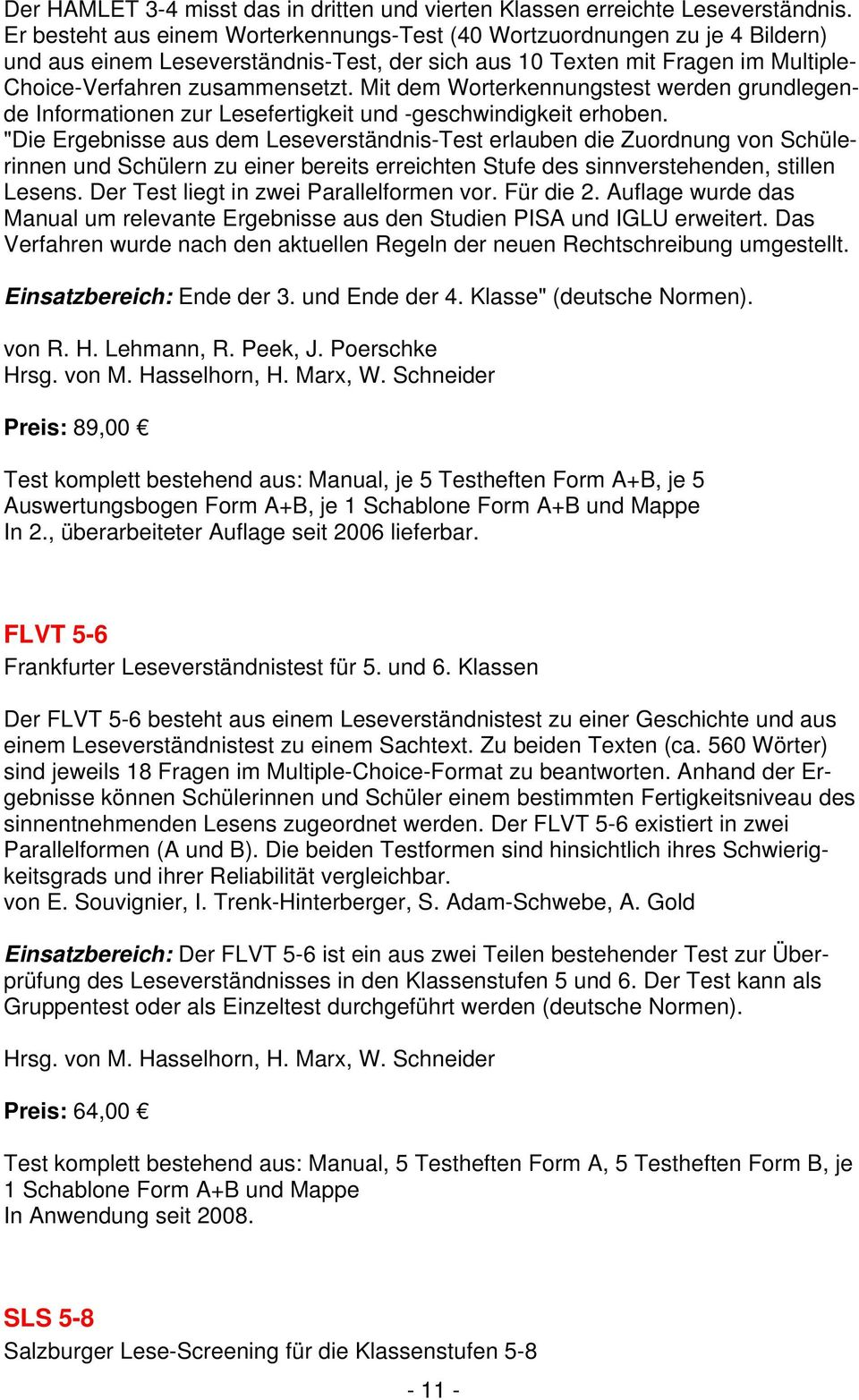 Standardisierte Schulleistungstests - PDF