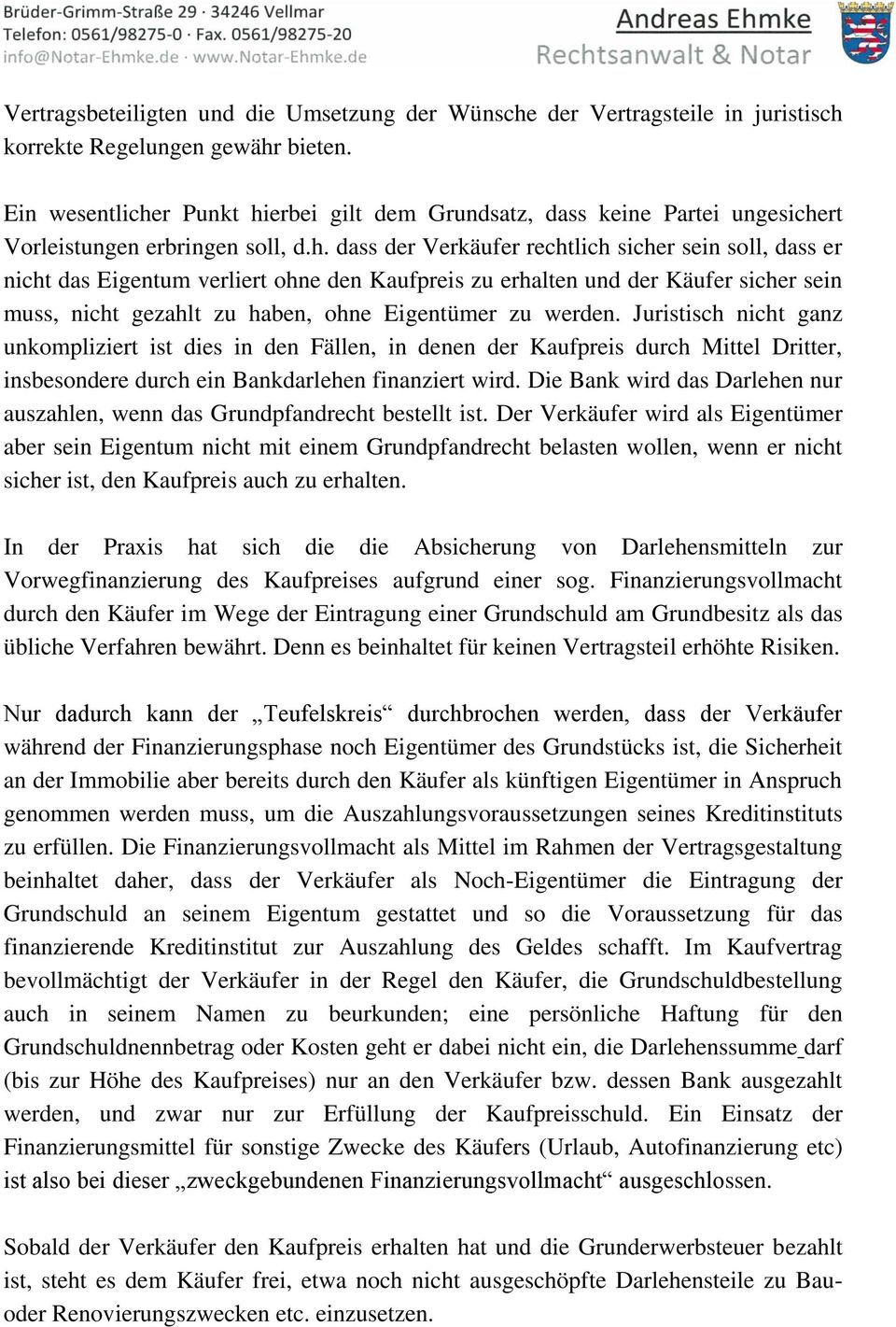 Merkblatt Immobilienkaufvertrag Pdf