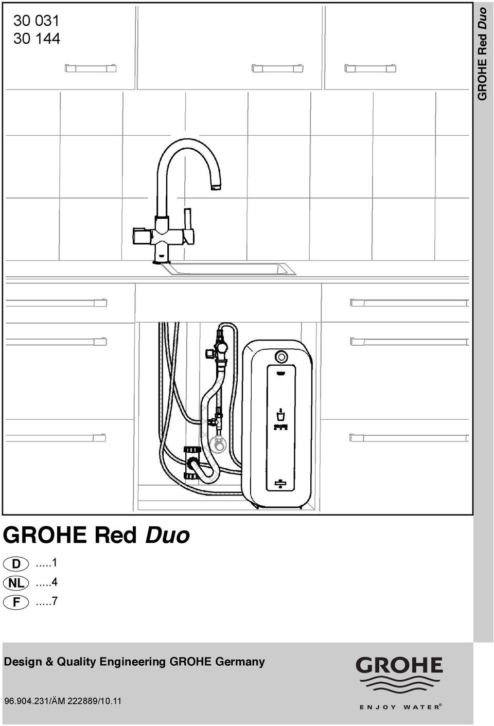 GROHE Red Duo. Design & Quality Engineering GROHE Germany ...