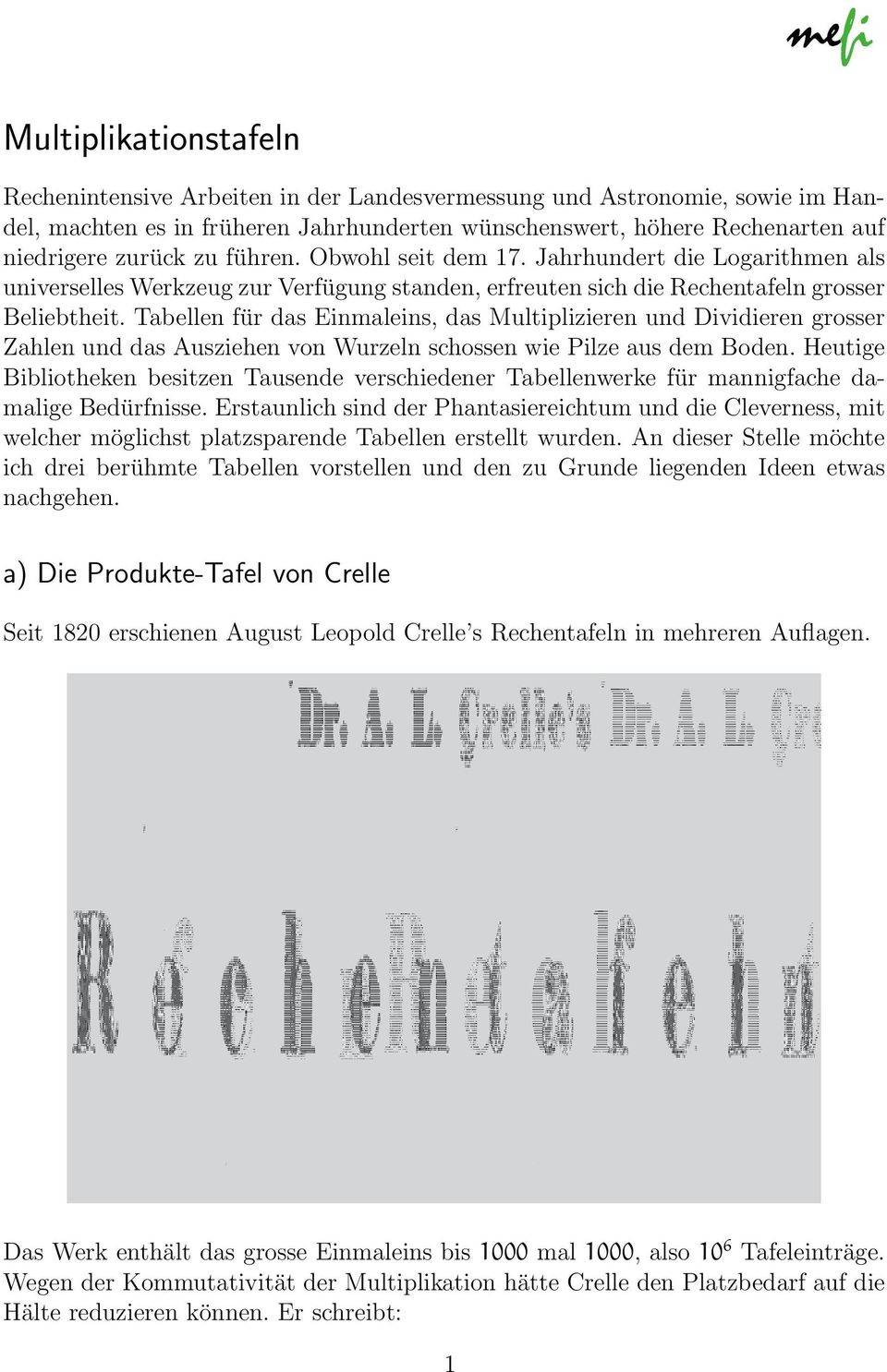 Multiplikationstafeln - PDF