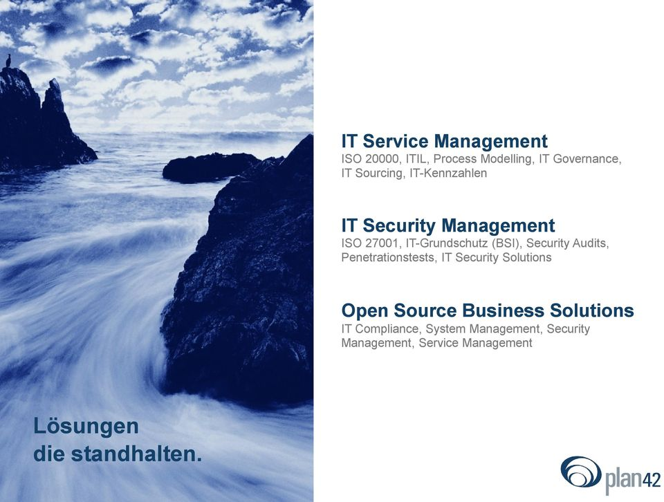 Audits, Penetrationstests, IT Security Solutions Open Source Business Solutions IT