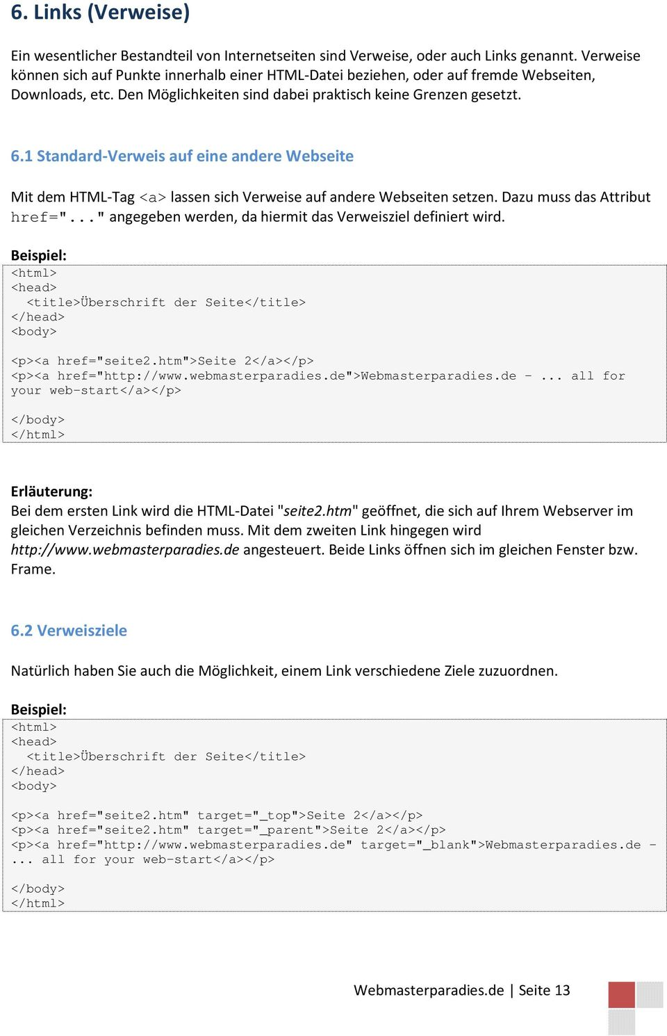HTML-Tutorial. Grundlegende HTML-Kenntnisse - PDF