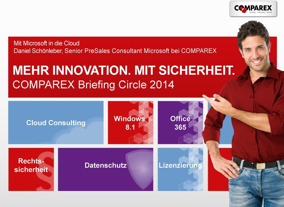 MIT SICHERHEIT. Cloud Consulting Windows 8.