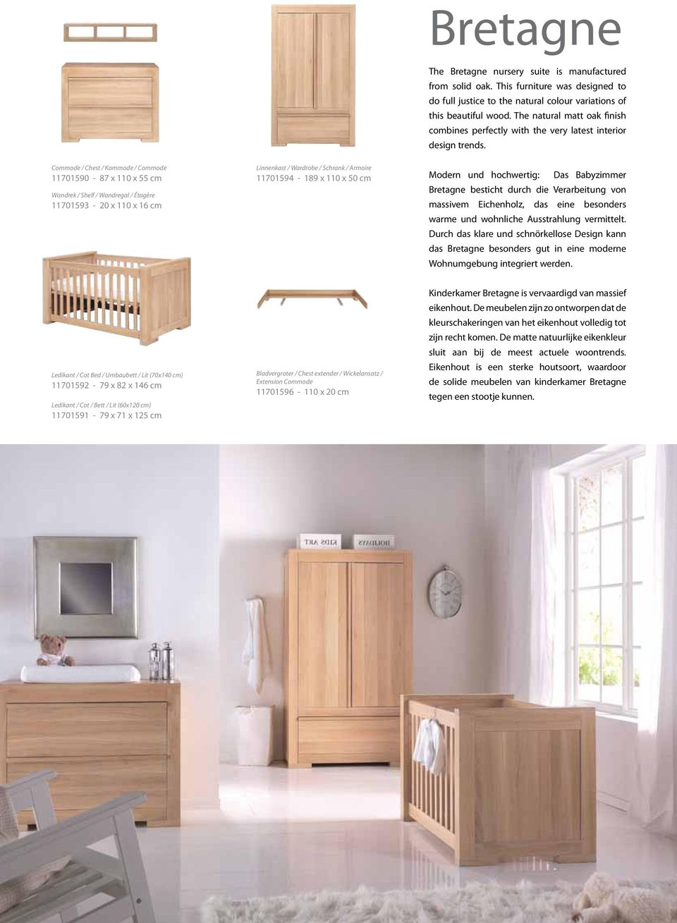the natural matt oak finish combines perfectly with the very latest interior design trends