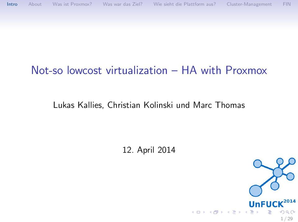 Not-so lowcost virtualization HA with Proxmox - PDF