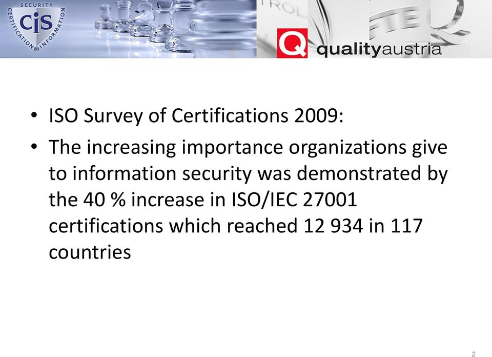 was demonstrated by the 40 % increase in ISO/IEC