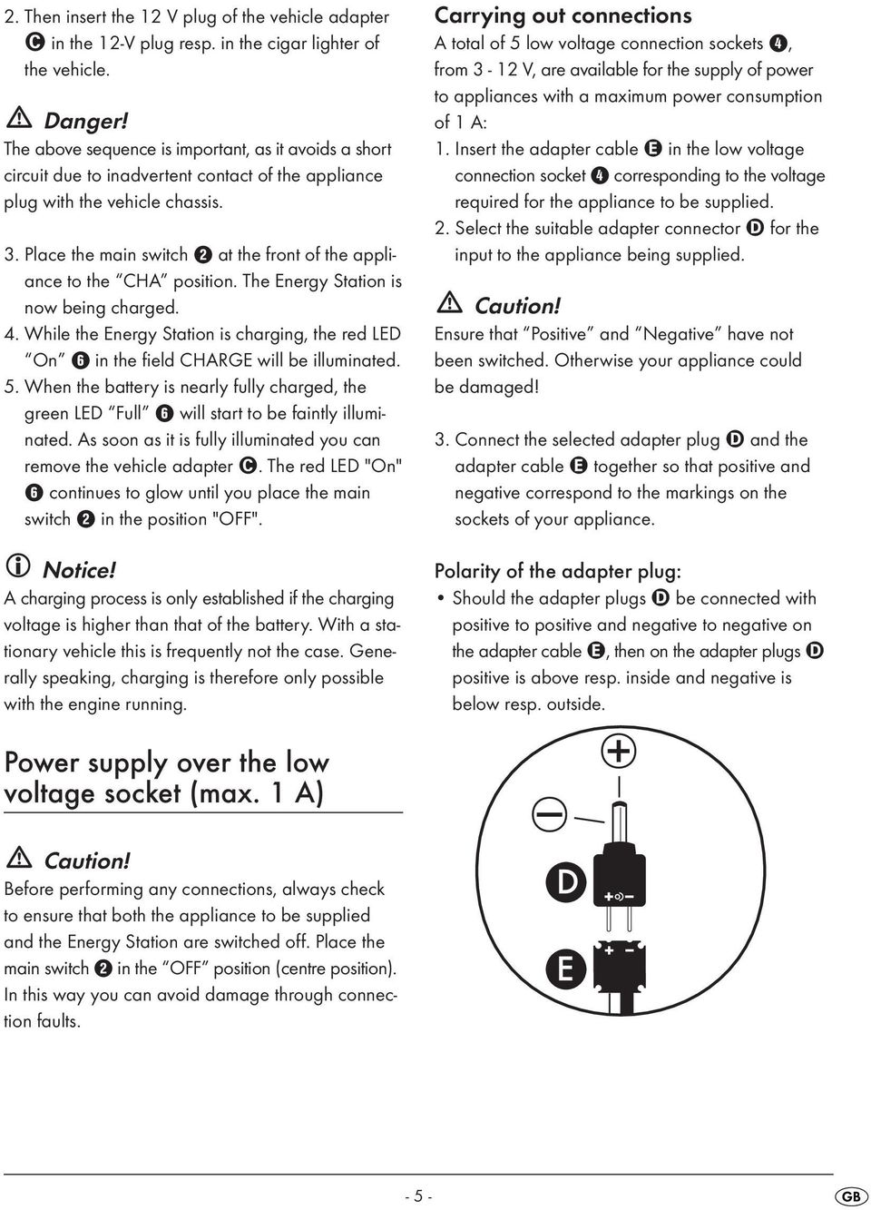 Mobile Power Supply Kh Pdf Brief Introduction To Circuits Electricaleasycom Place The Main Switch 2 At Front Of Appliance Cha Position