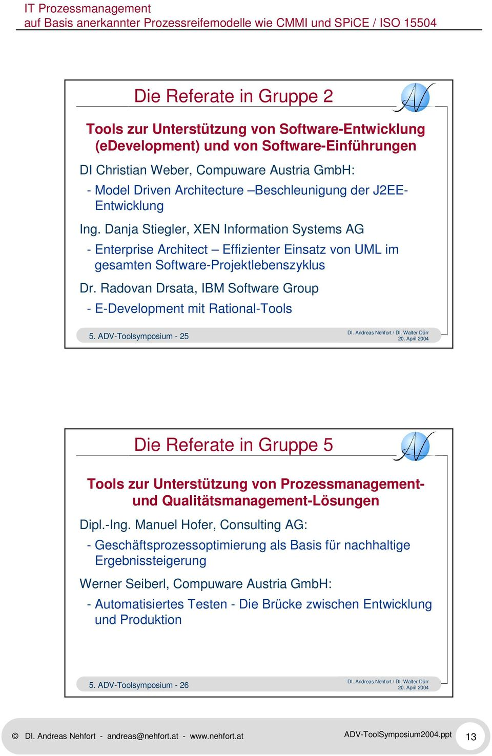 Radovan Drsata, IBM Software Group - E-Development mit Rational-Tools 5.