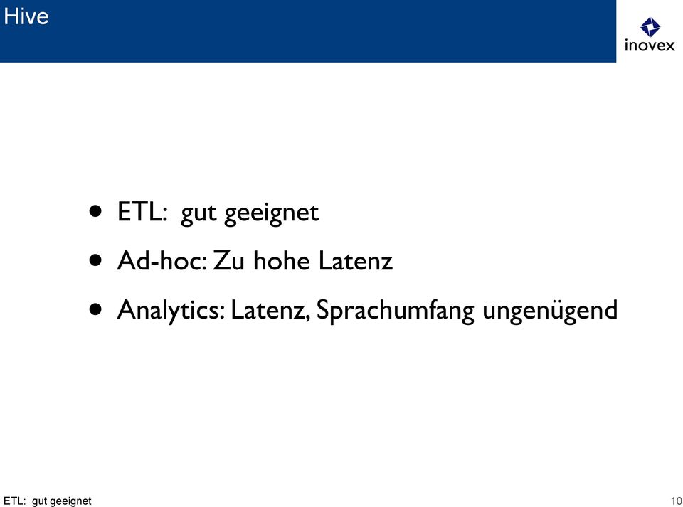 Analytics: Latenz,
