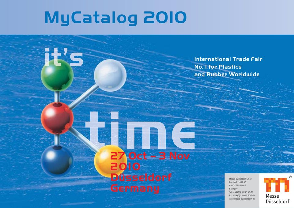 MyCatalog 2010 International Trade Fair No. 1 for Plastics and ...