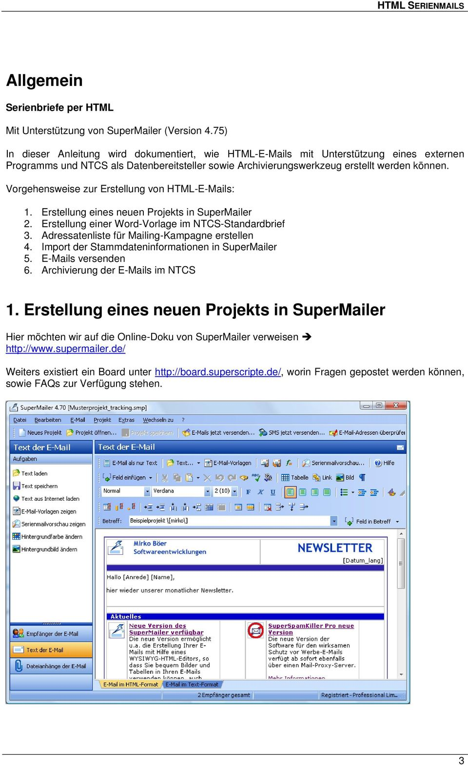 Html Serienmails Mit Standardbrief Und Supermailer Pdf