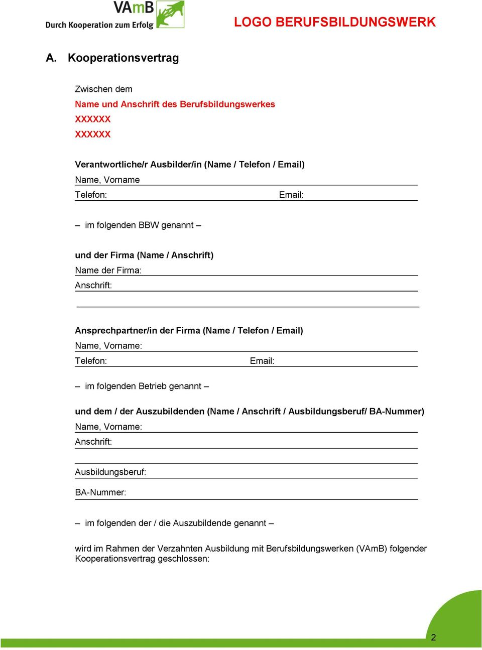 Kooperationsvertrag Muster Zum Download 9