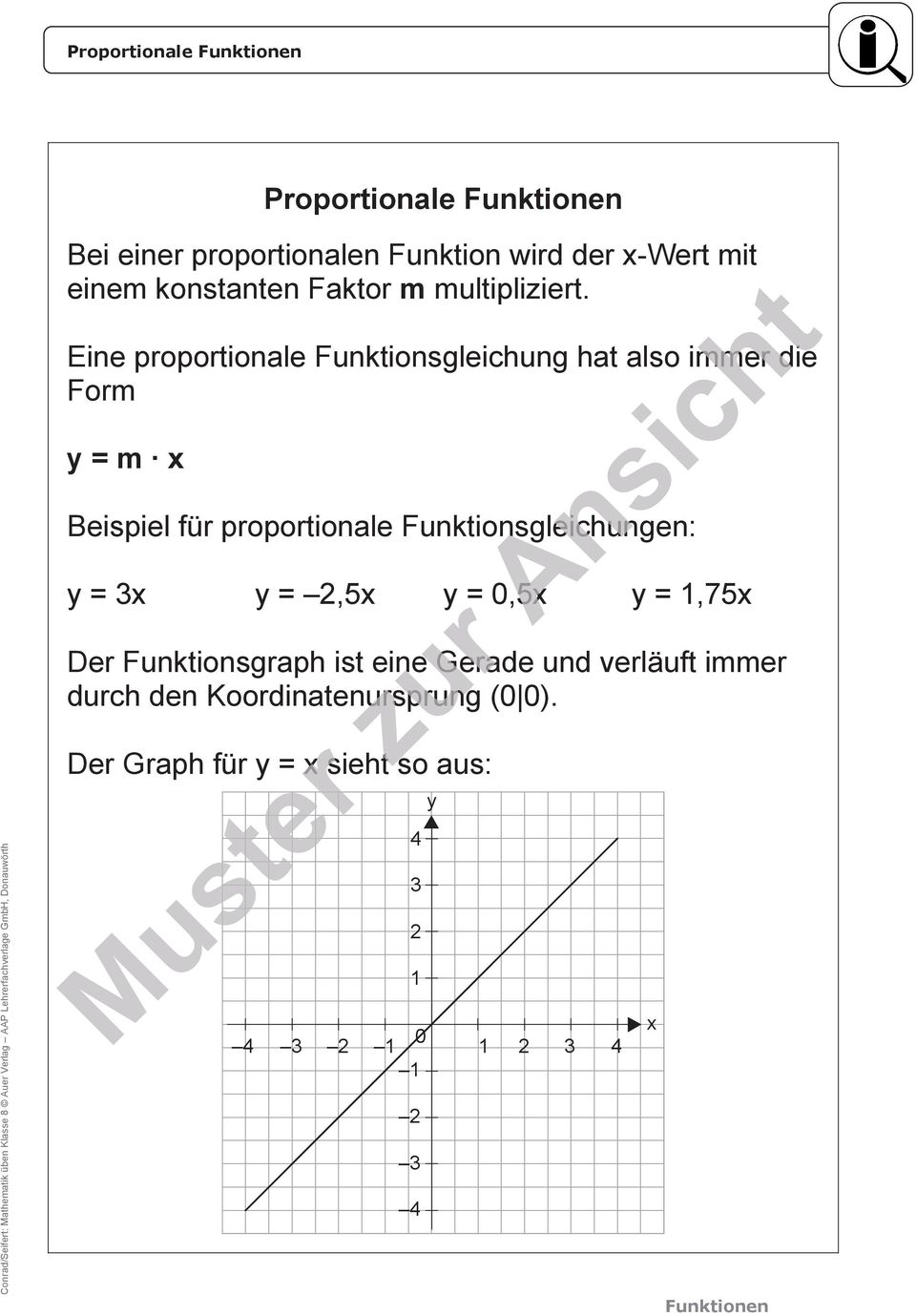 Download. Mathematik üben Klasse 8 Funktionen. Differenzierte ...