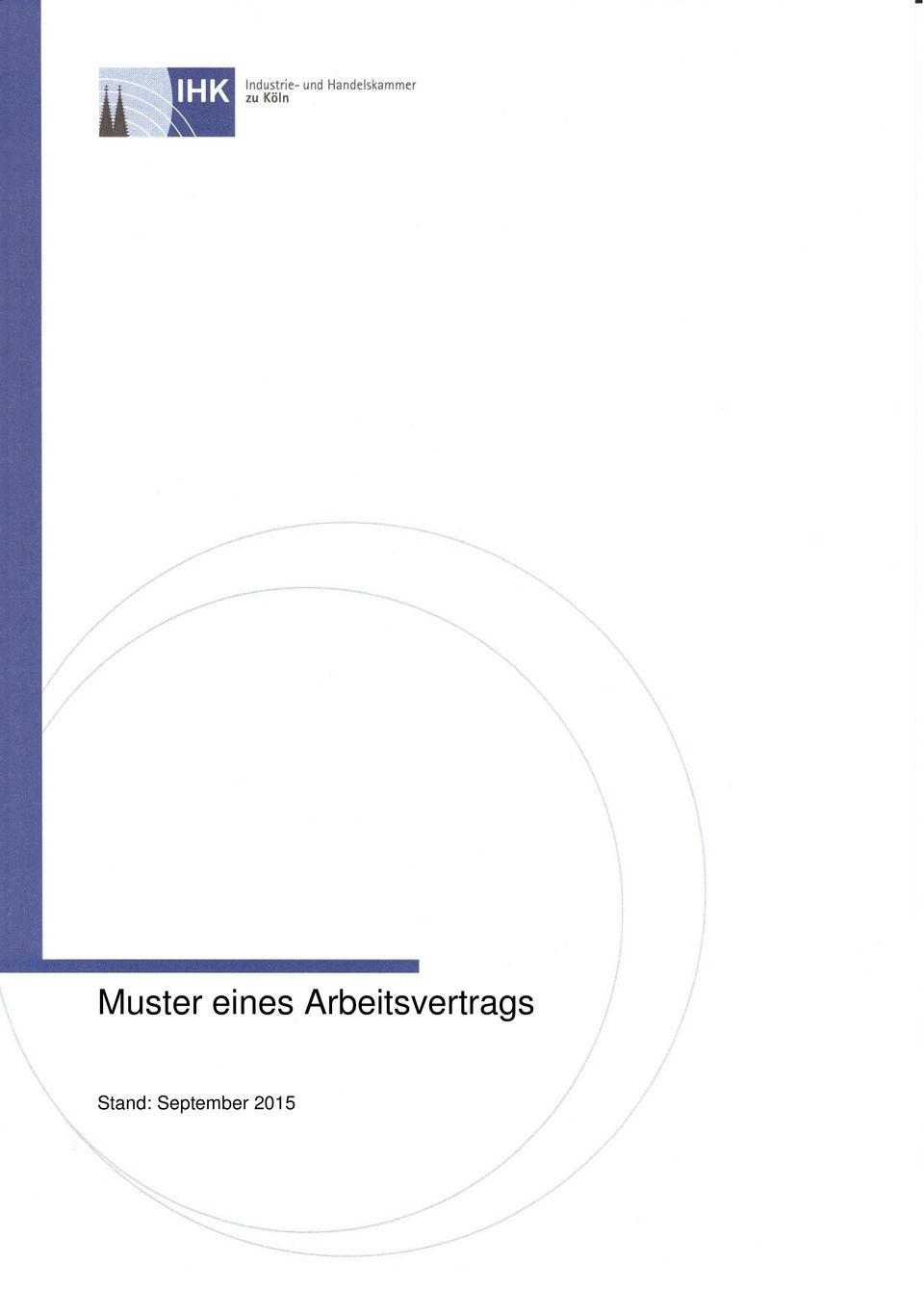 Muster Eines Arbeitsvertrags Stand September Pdf