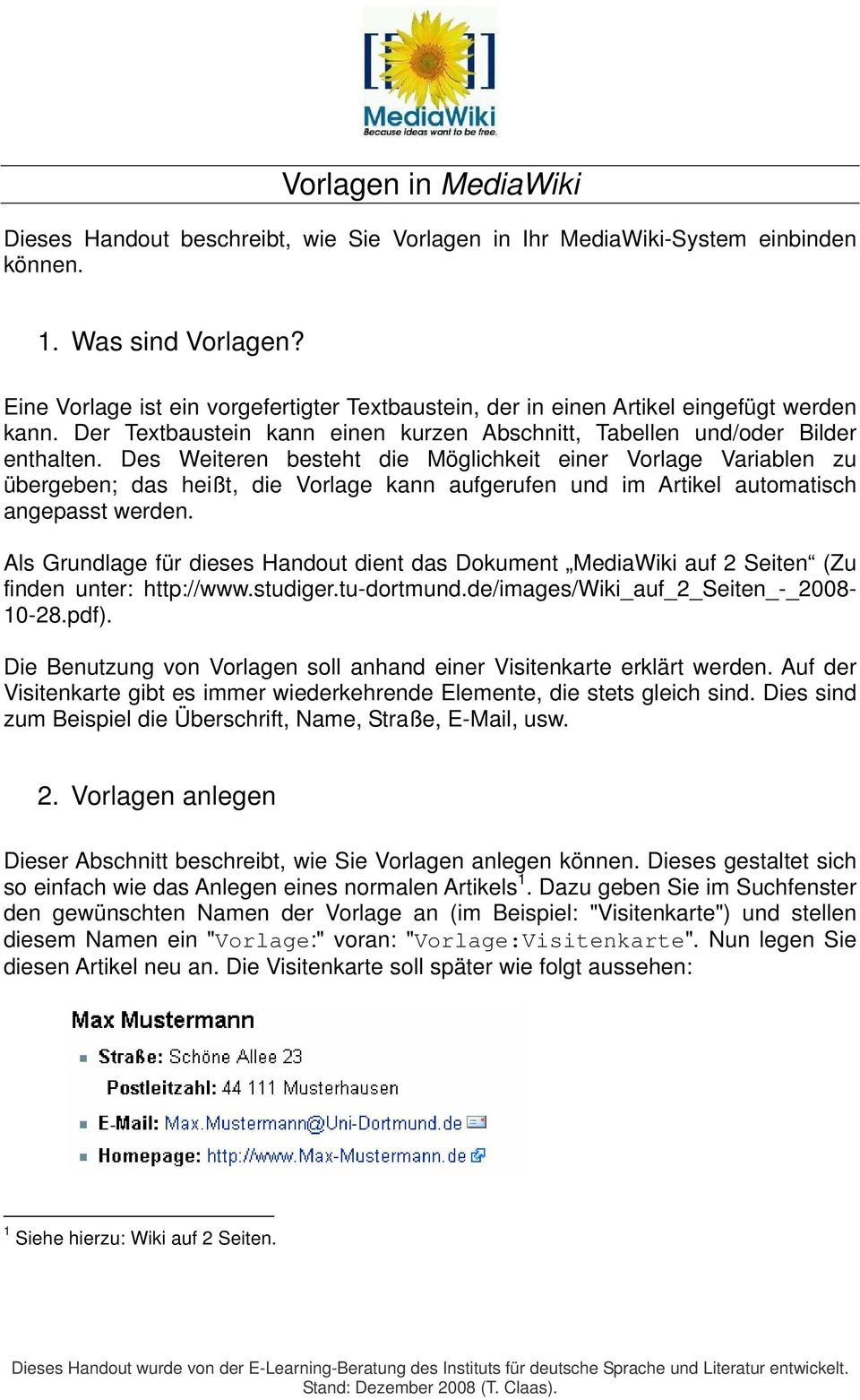 Vorlagen In Mediawiki Pdf Free Download