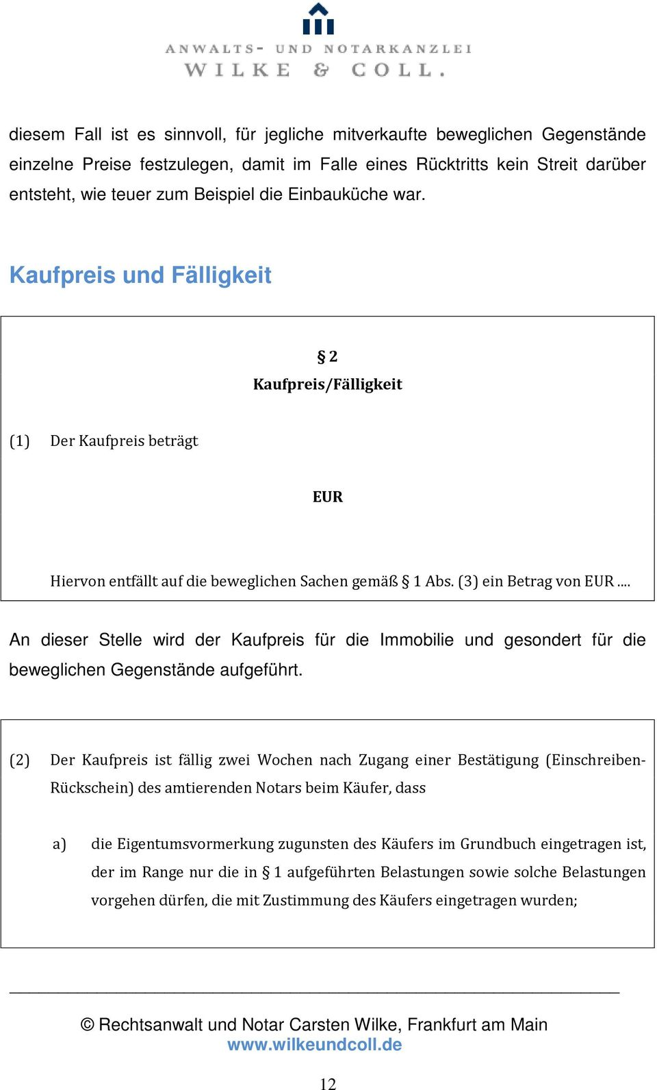 Der Immobilienkaufvertrag Pdf