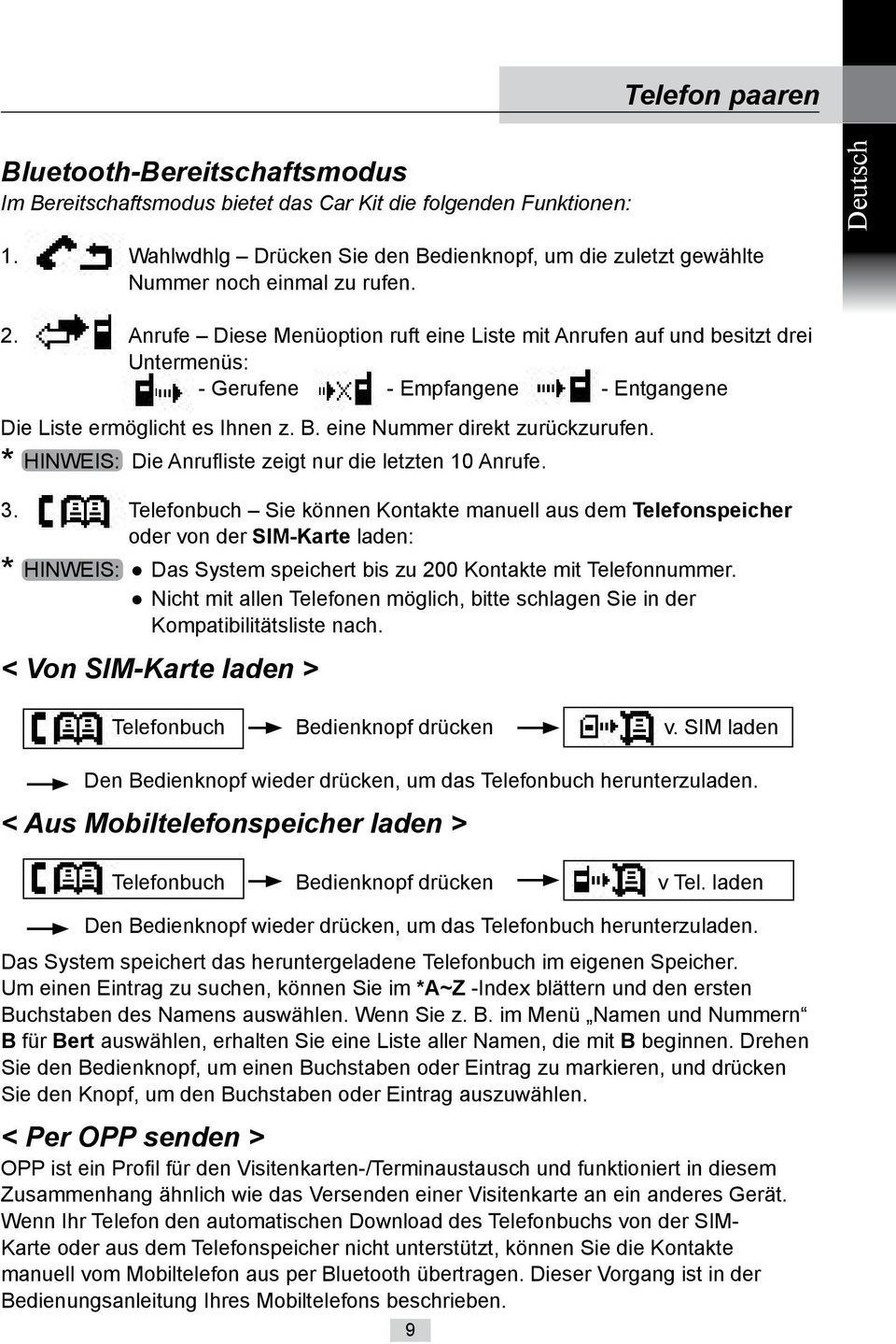 Freisprecheinrichtung Hands Free Telephone Pdf Free Download