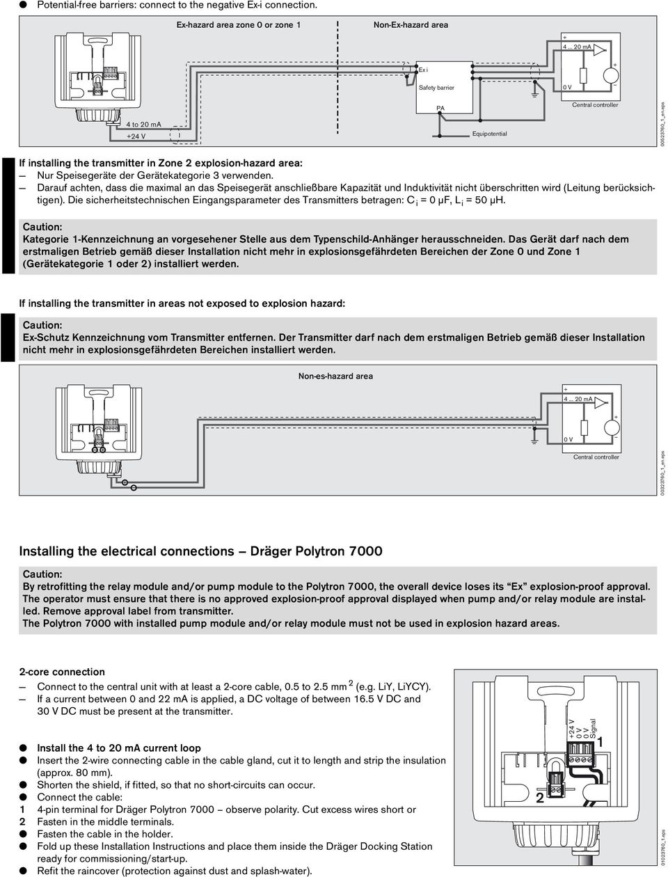 dräger polytron 7000 measuring unit installation instructions pdf
