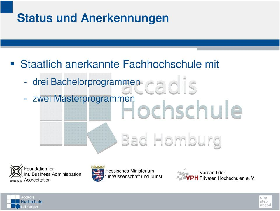 Int. Business Administration Accreditation Hessisches Ministerium