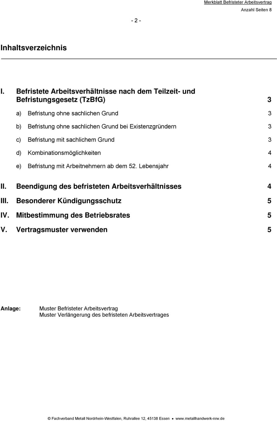 Befristeter Arbeitsvertrag Pdf Free Download