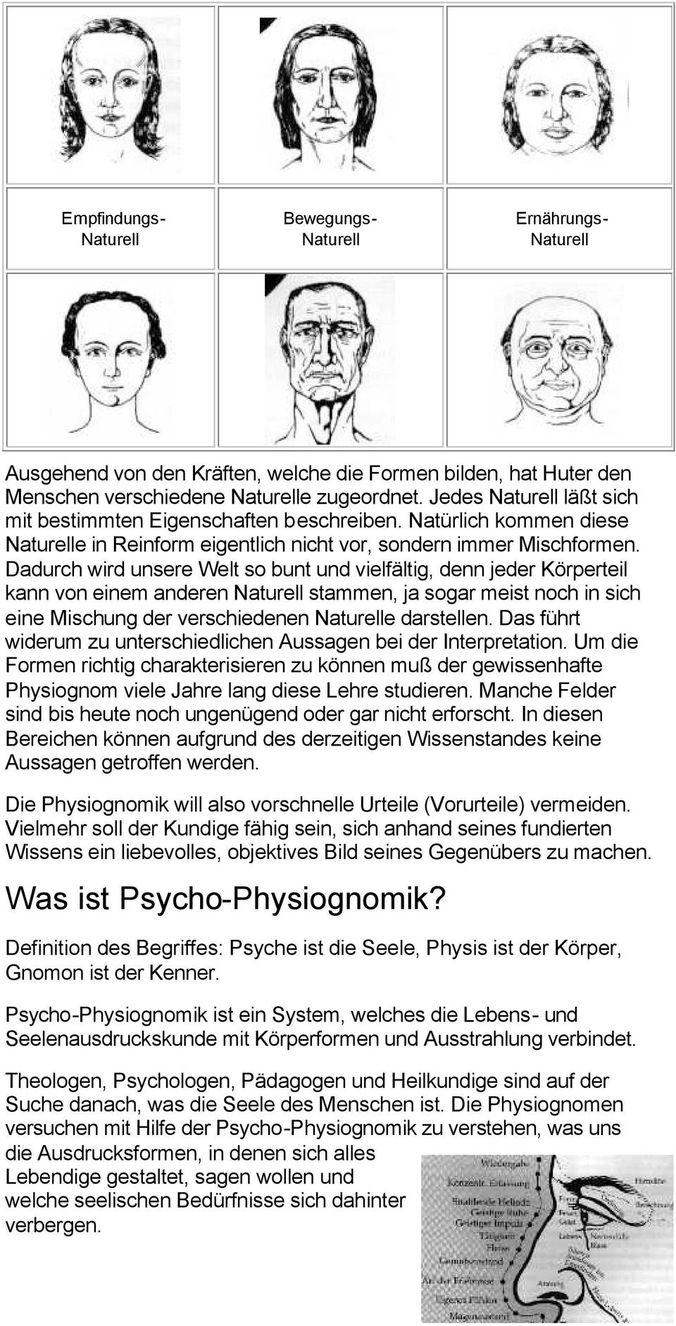 physiognomie bedeutung