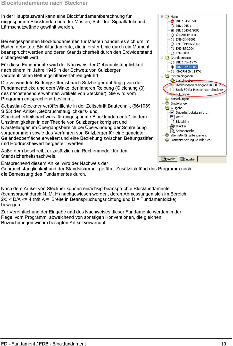 Fundament FD und Blockfundament FDB - PDF