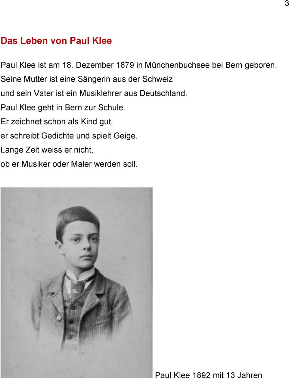 Biographie Paul Klee Und Franz Marc Zentrum Paul Klee 5