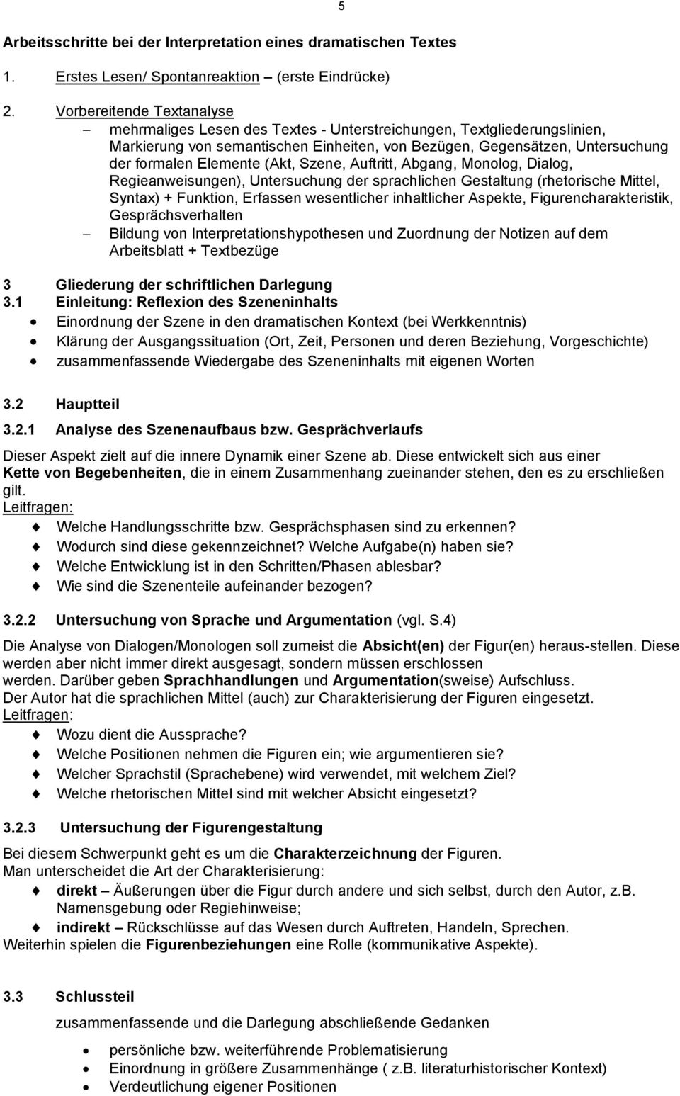 Interpretation dramatischer Texte. Dramentheorie: - PDF